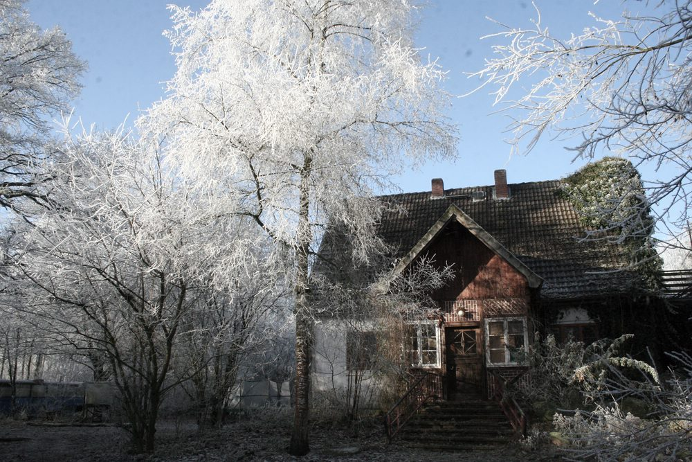 WeidenHof Wohnhaus im Winter